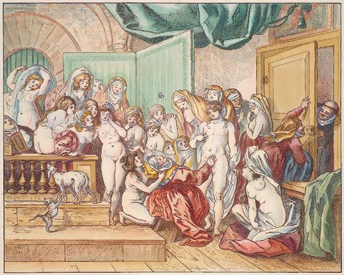 """Illustration de """"Les lunettes"""", conte de Jean de la Fontaine"""