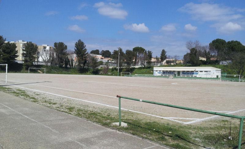 Le stade des Amandiers un jour d'affluence